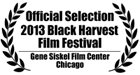 Official Selection 2013 Black Harvest Film Festival